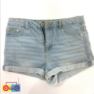 Love Tree Denim Blue High Rise Shorts Size M